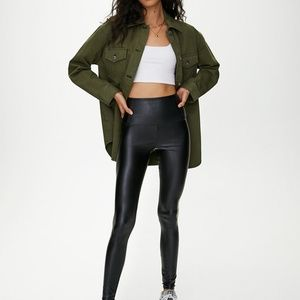 Aritzia Wilfred Daria Pants Vegan Leather Leggings